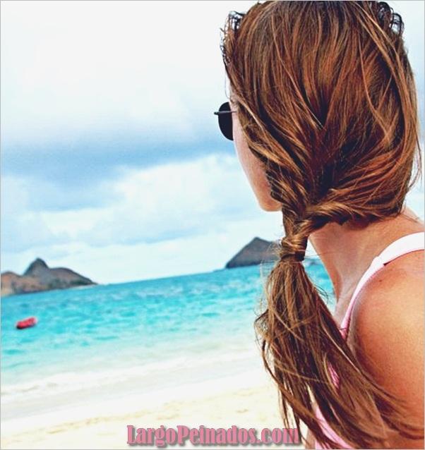 Peinados de cola de caballo laterales atractivos para niñas (22)