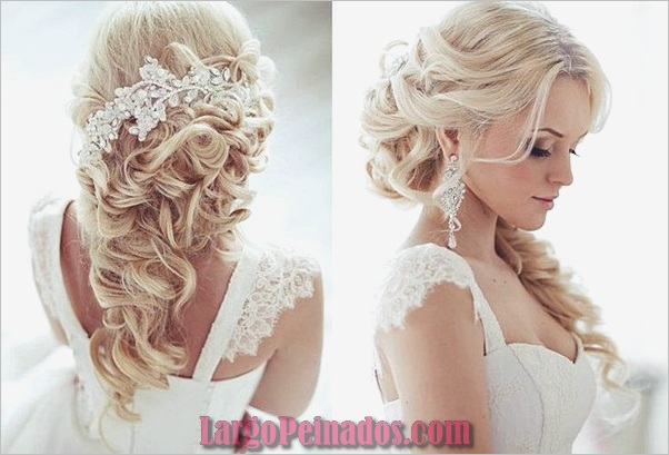 Peinados de novia para cabello largo y corto13