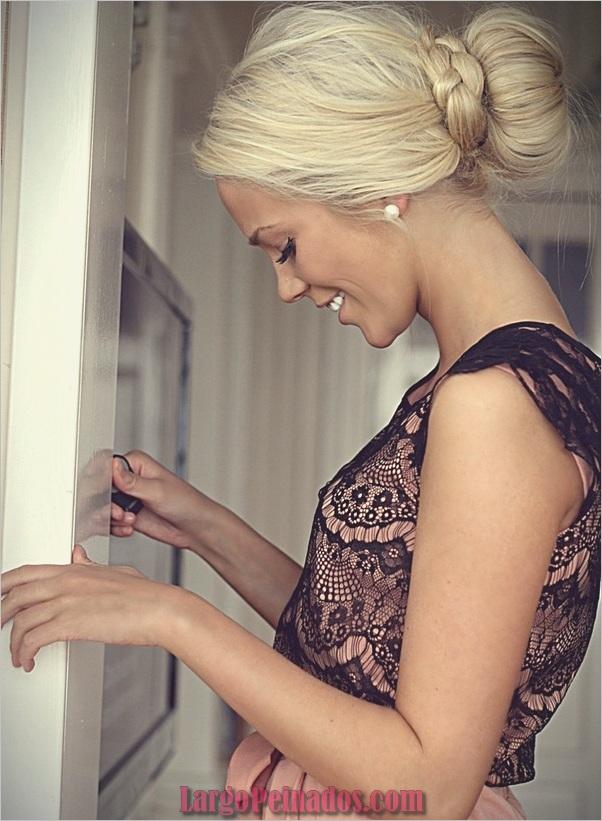 Peinados de Bollo Fácil para Mujeres (15)