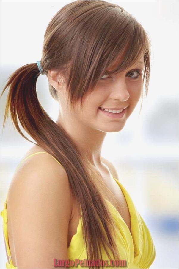 Peinados de cola de caballo laterales atractivos para niñas (24)