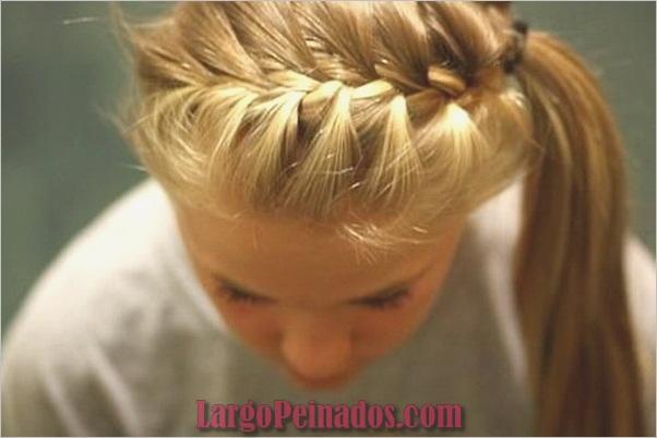 Peinados de cola de caballo laterales atractivos para niñas (2)
