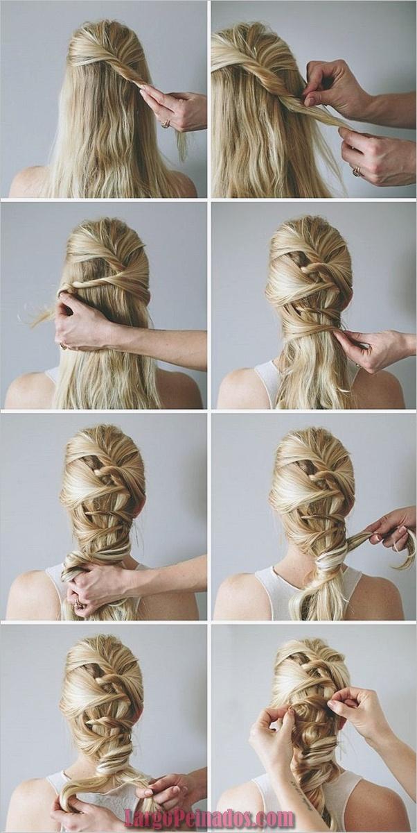 Peinados fáciles paso a paso para cabello largo15
