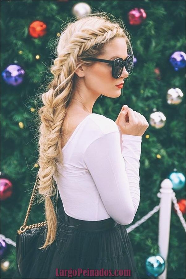 peinados de fiesta para cabello largo 48