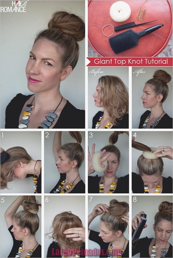 Cómo-hacer-un-calcetín-Bun-Step-by-Step-Tutorials