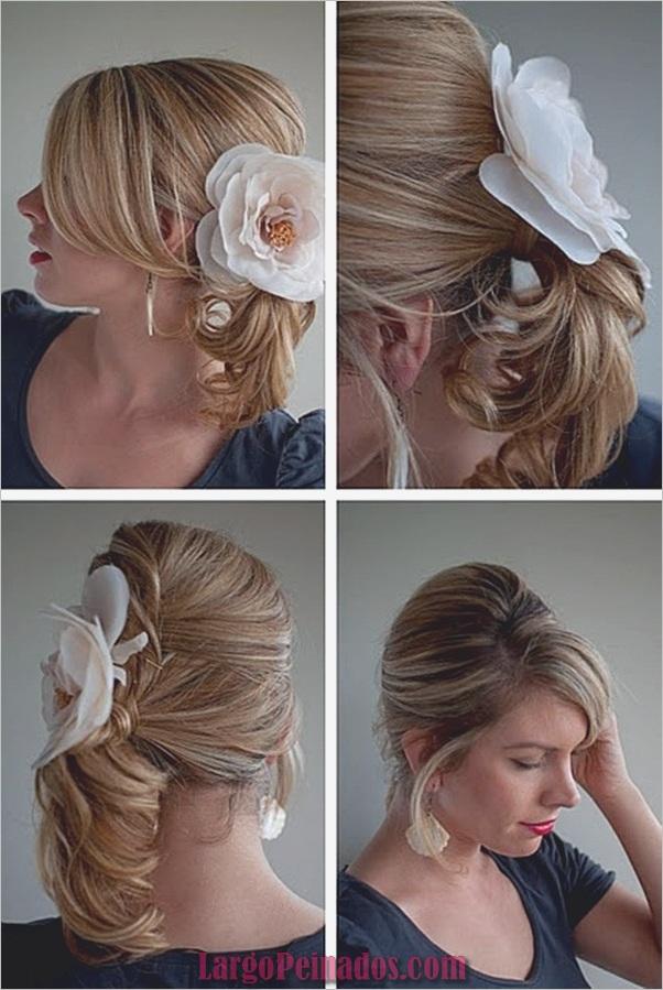 Peinados de cola de caballo laterales atractivos para niñas (18)