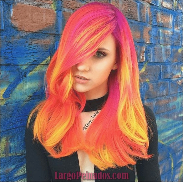 Diferentes tonos de color de pelo rojo