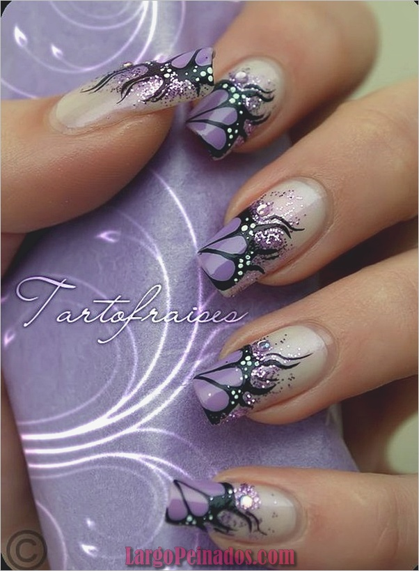 Diseños bonitos de uñas francesas (3)