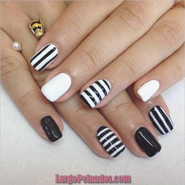 Diseños de arte simples para uñas cortas (27)