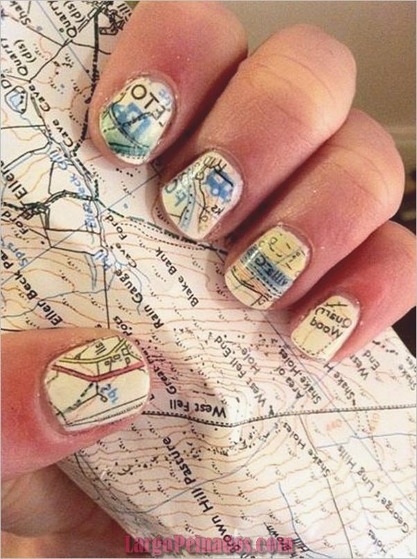 Diseños de arte simples para uñas cortas (19)