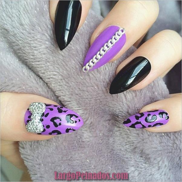 Estampados De Leopardo Del Arte De Uñas (1)
