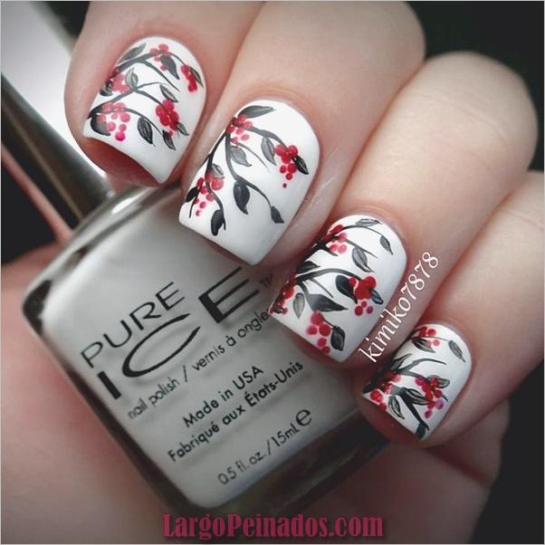 Diseños de arte de uñas blancas (18)