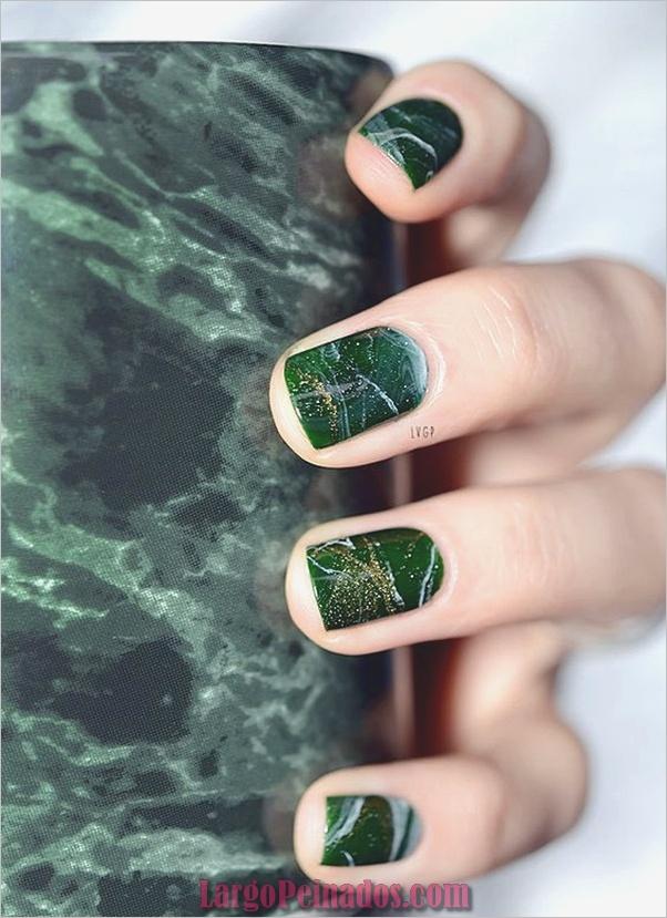 Diseños de arte de uñas de mármol (18)