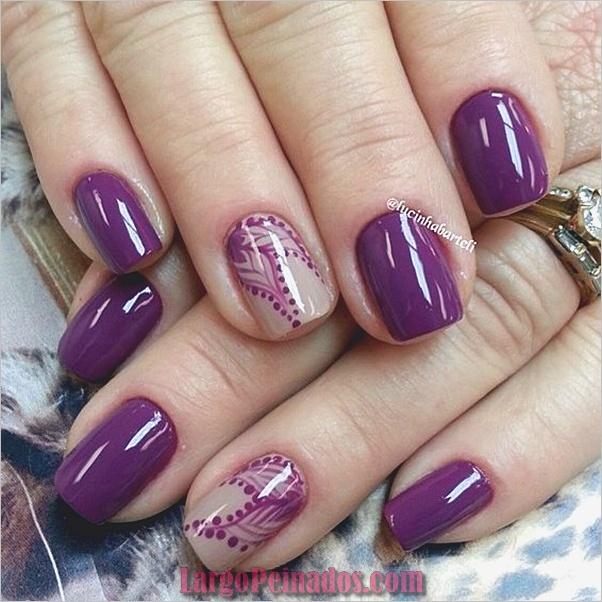 Diseños de arte de uñas púrpura (26)