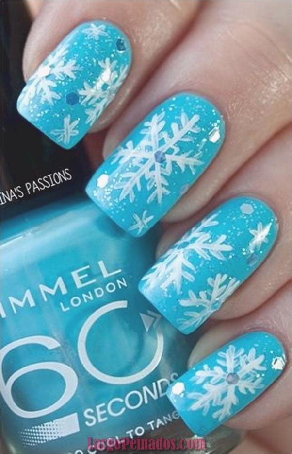 Ideas y diseños de arte de uñas azules (34)
