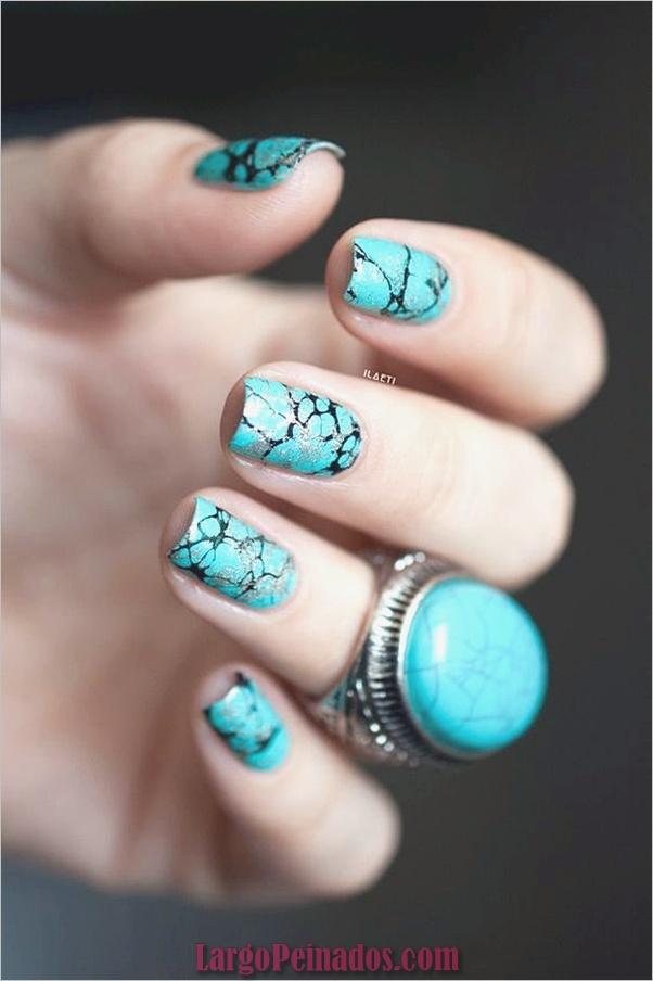 Diseños de arte de uñas de mármol (8)