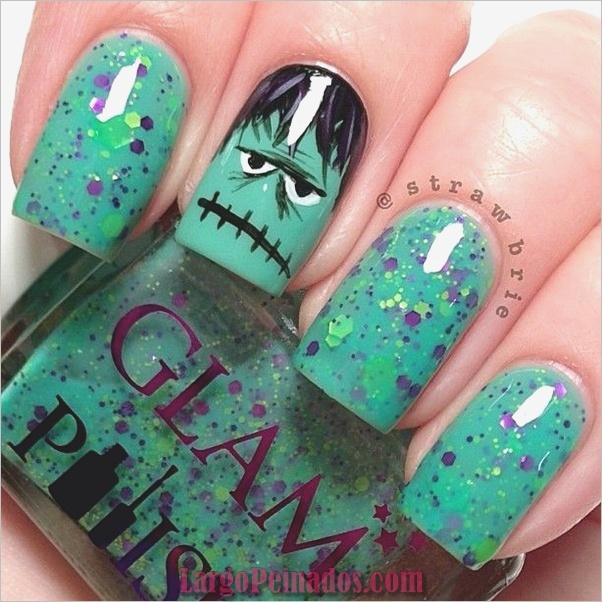 Ideas y diseños de arte de uñas de Halloween (17)