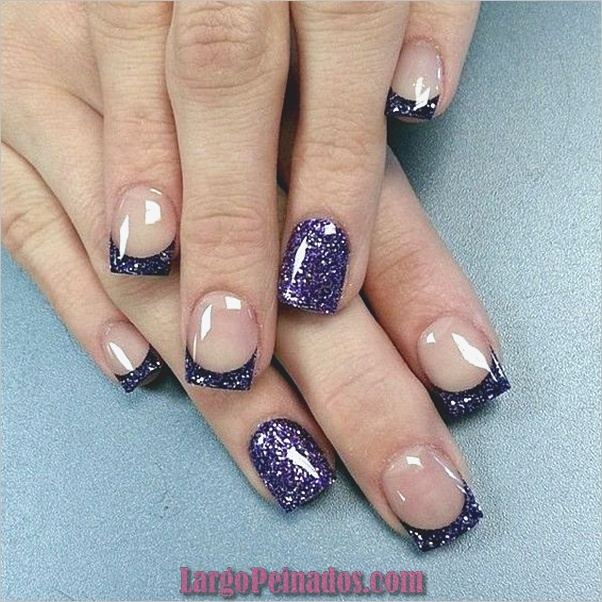 Diseños de arte de uñas púrpura (2)