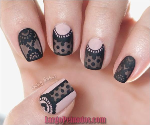 Diseños de arte de uñas negro1