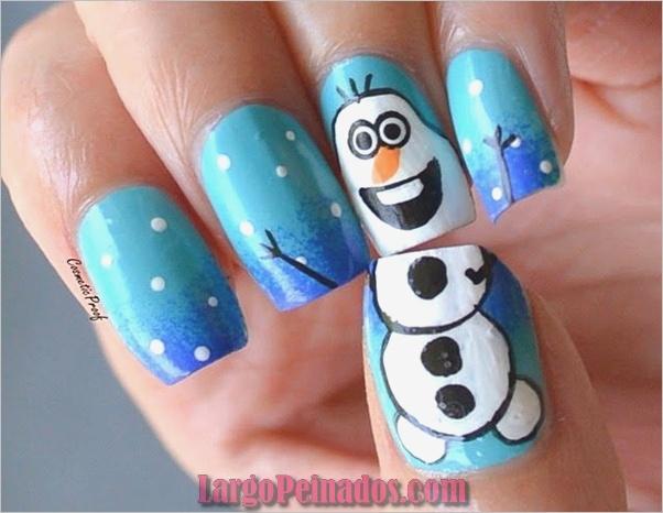 Ideas y diseños de arte de uñas de Navidad11