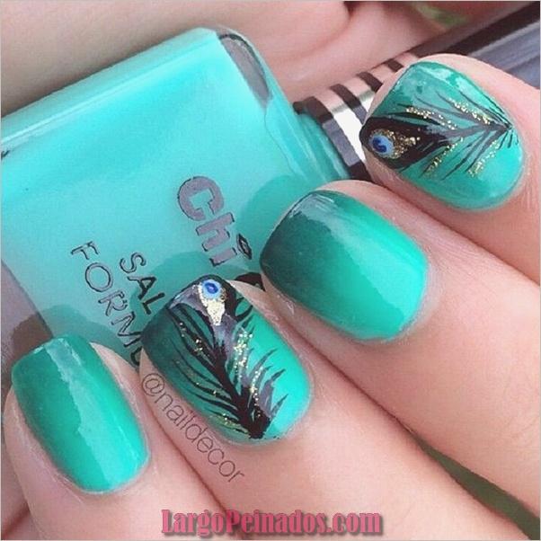 Ideas y diseños de arte de uñas azules (39)