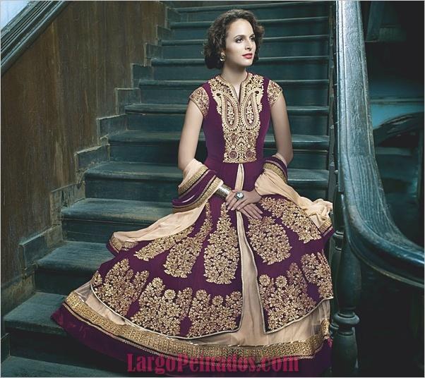 Vestidos y trajes indios elegantes1