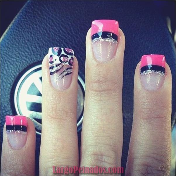 Diseños de arte simples para uñas cortas (10)