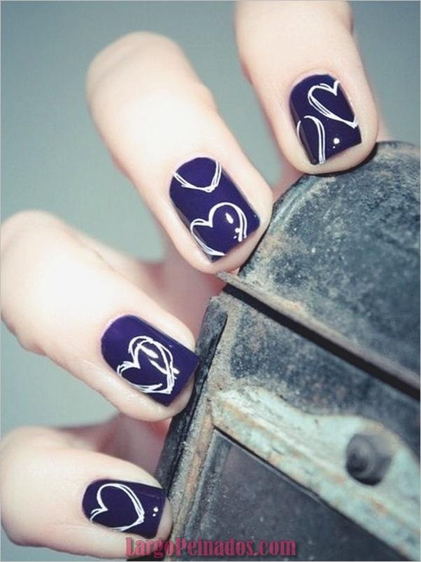 Ideas y diseños de arte de uñas azules (42)