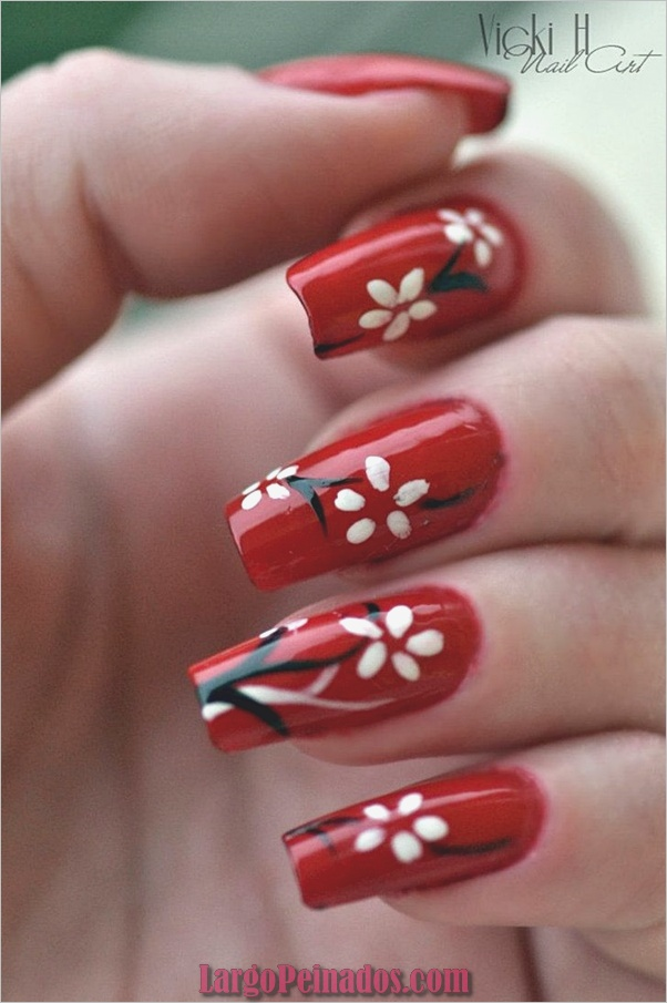 Nail Art Designs4 rojo