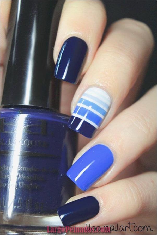 Ideas y diseños de arte de uñas azules (57)