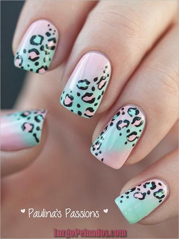 Estampados De Leopardo Del Arte De Uñas (2)