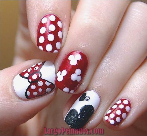 Diseños de arte de uñas fáciles para uñas cortas 2019 (5)