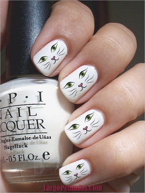 Diseños de arte de uñas blancas (7)