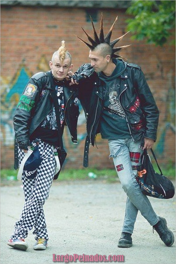Nuevos peinados punk para hombres en 2019 (12)