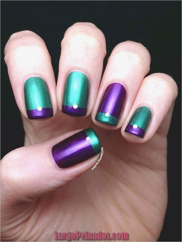 Diseños de arte de uñas púrpura (31)