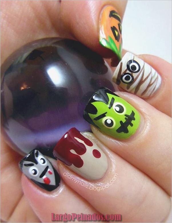 Ideas y diseños de arte de uñas de Halloween (7)