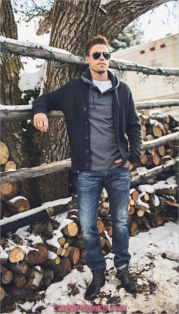 Trajes de moda de invierno para hombres en 2019 (8)