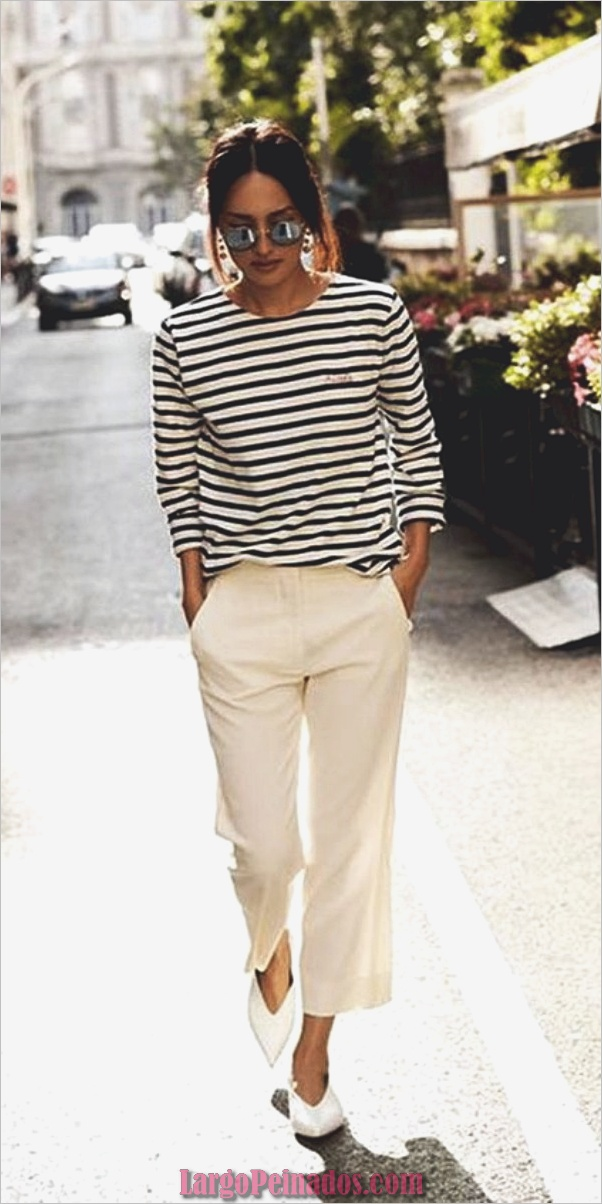Pantalones de trabajo de pantalón blanco casual