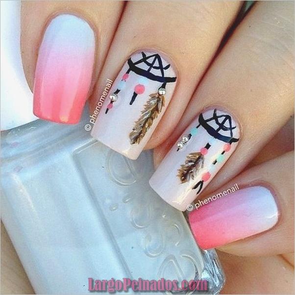 Ideas y diseños fáciles de esmalte de uñas (4)