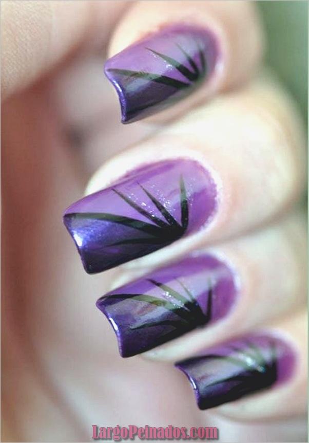 Diseños de arte de uñas púrpura (29)