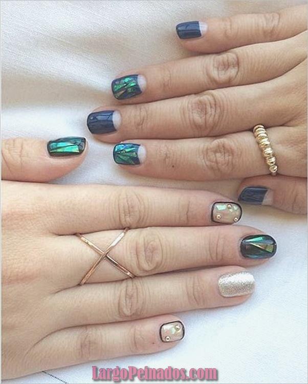 Ideas y diseños de arte de uñas azules (2)