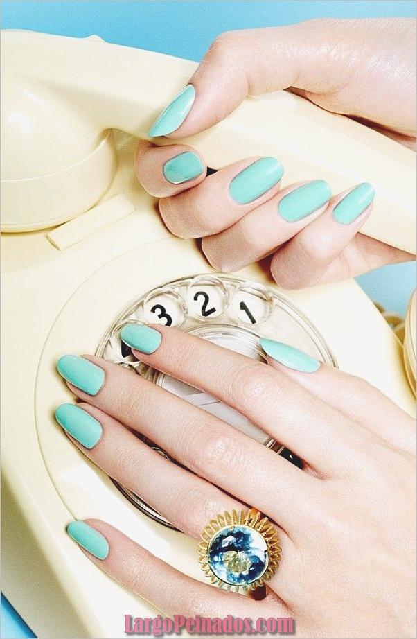 Ideas y diseños de arte de uñas azules (40)