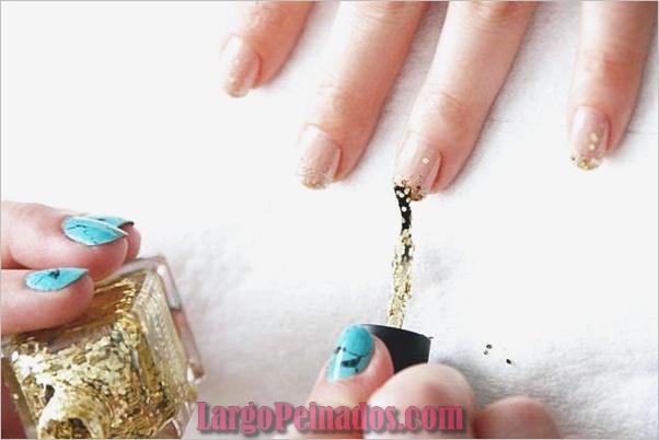 Diseños de arte de uñas con purpurina simple41