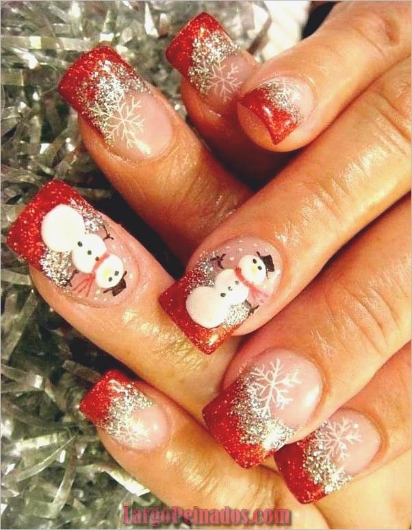 Ideas y diseños de arte de uñas de navidad12