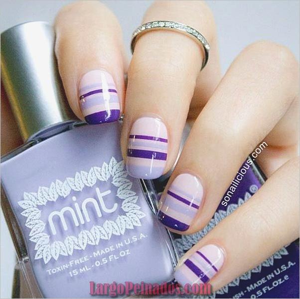 Diseños de arte de uñas fáciles para uñas cortas 2019 (3)