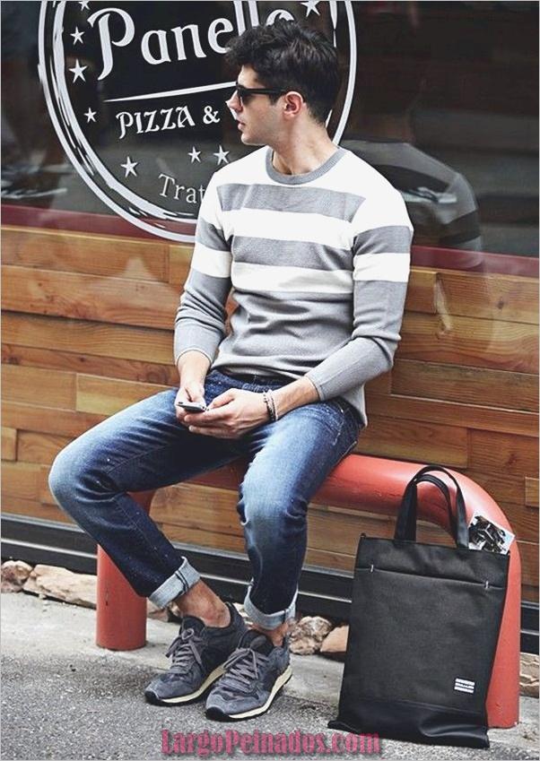 Trajes de moda para hombre para emparejar con zapatillas (2)
