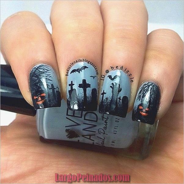 Ideas y diseños de arte de uñas de Halloween (20)