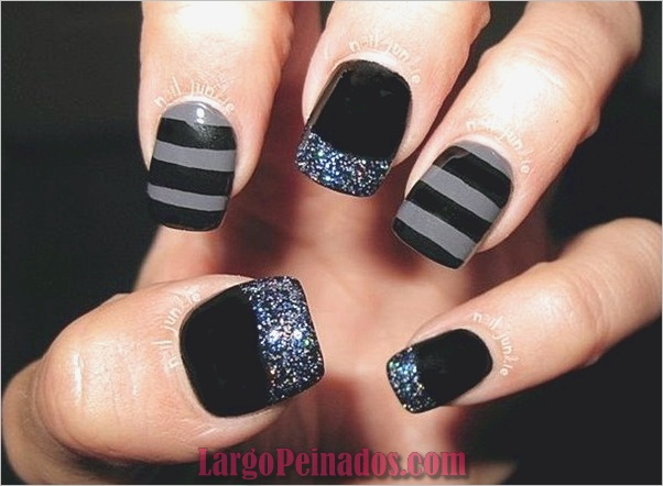 Diseños de arte simples para uñas cortas (14)