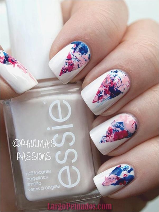 Diseños de arte de uñas blancas (5)