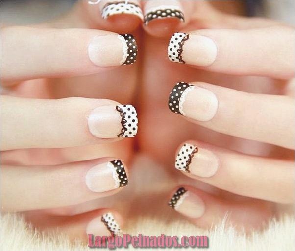 Diseños bonitos de uñas francesas (1)