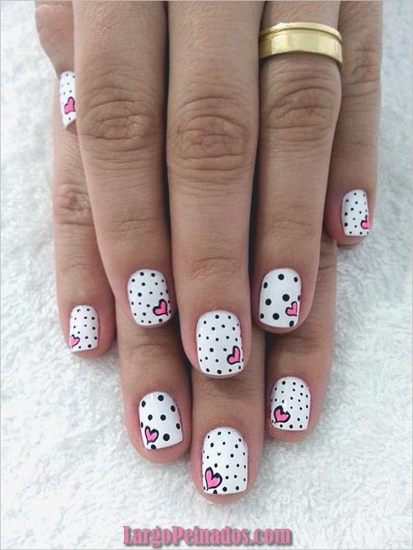 lindo-rosa-y-negro-uñas-diseños-18